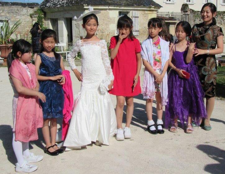 Des écoliers de Pékin
