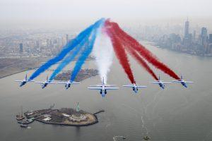 La Patrouille de France dans le ciel de New-York