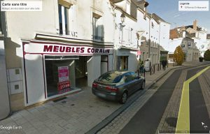 Le château expose en ville : Ancien magasin CORALIN