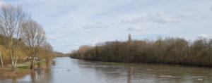 Le cher à Châtillon-sur-Cher vue amont vers Selles