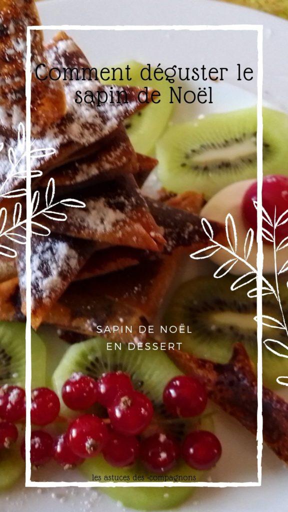 recette de sapin de noël en dessert