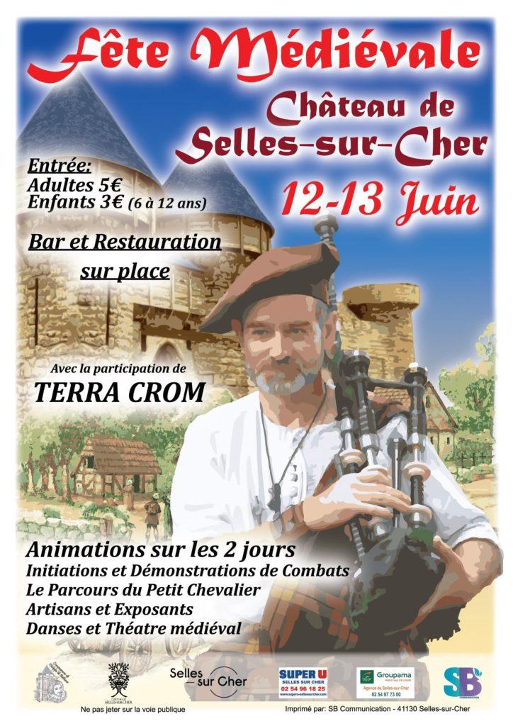 fête médiévale 2021 château de Selles sur Cher